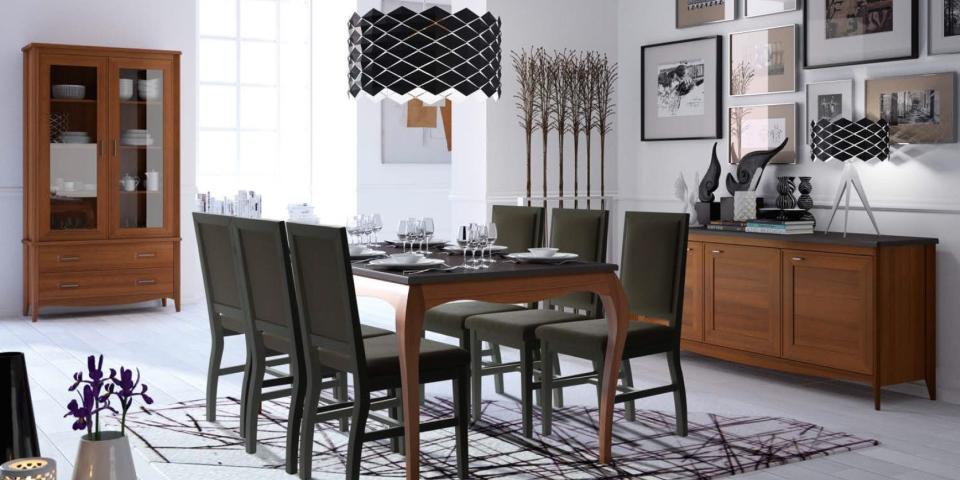 Mesa de comedor y sillas modelo sapore muebles alonso for Modelo de mesas para comedor